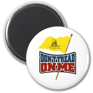 Dont Tread On Me Waiving Gadsden Flag 2 Inch Round Magnet