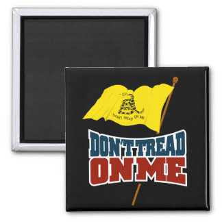 Dont Tread On Me Waiving Gadsden Flag 2 Inch Square Magnet