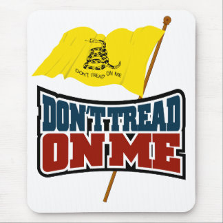 Dont Tread On Me Waiving Gadsden Flag Mouse Pad