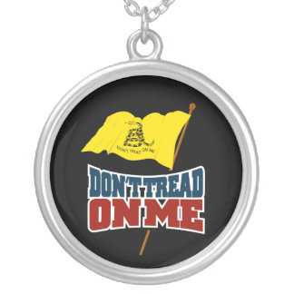 Dont Tread on Me Waiving Gadsden Flag Necklace