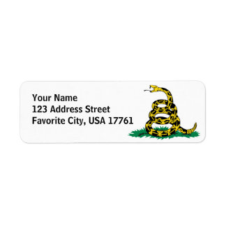 Don't Tread On Me White Address Labels