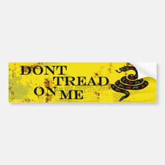 Don't Tread on Me Yellow Bumber Stickers