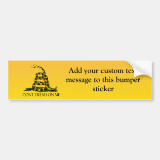 Don't Tread on Me, Yellow Gadsden Flag Ensign Bumper Sticker
