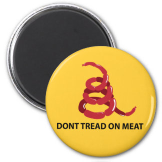 Dont Tread on Meat 2 Inch Round Magnet