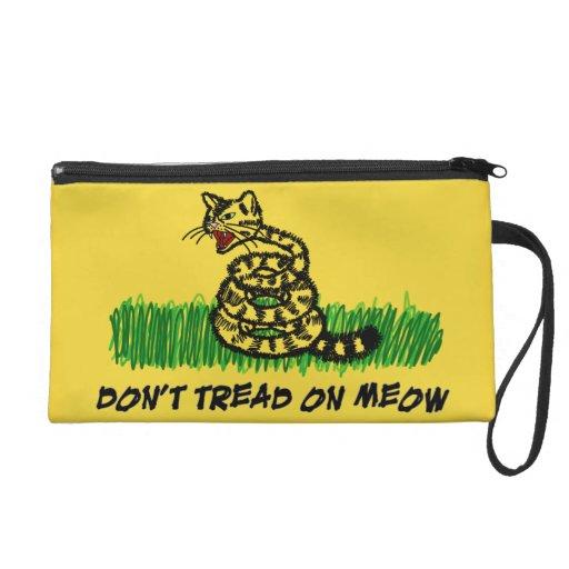 Don't Tread on Meow Wristlet Purses