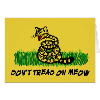 Don't Tread on Meow Stationery Note Card