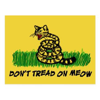 Don't Tread on Meow Postcard