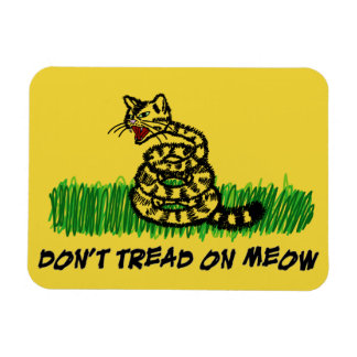 Don't Tread on Meow Rectangular Photo Magnet