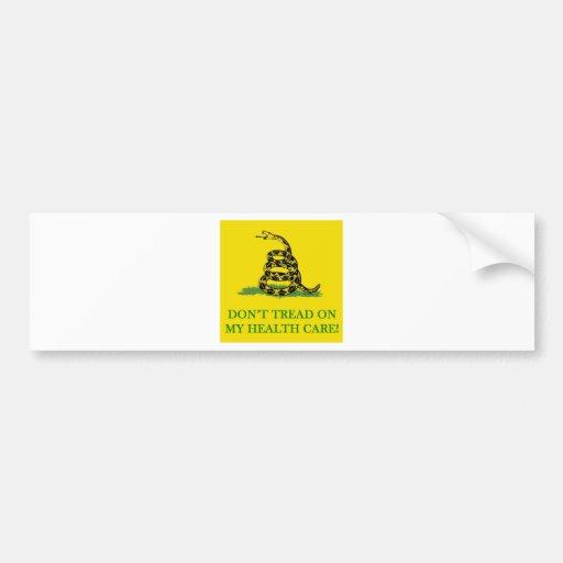 don't tread on my health care obama car bumper sticker
