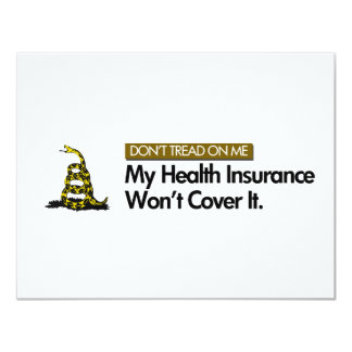 DONT TREAD ON MY HEALTHCARE 4.25X5.5 PAPER INVITATION CARD