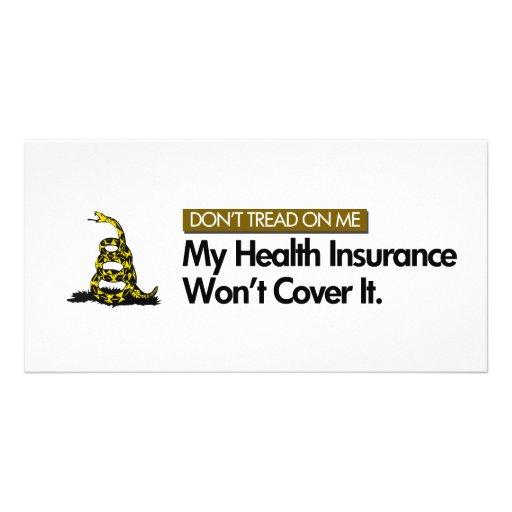 DONT TREAD ON MY HEALTHCARE CUSTOM PHOTO CARD