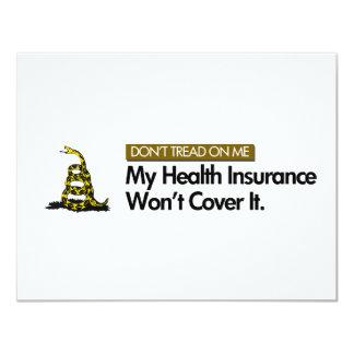 DONT TREAD ON MY HEALTHCARE CUSTOM ANNOUNCEMENTS