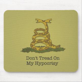Don't tread on my hypocrisy - the mousepad