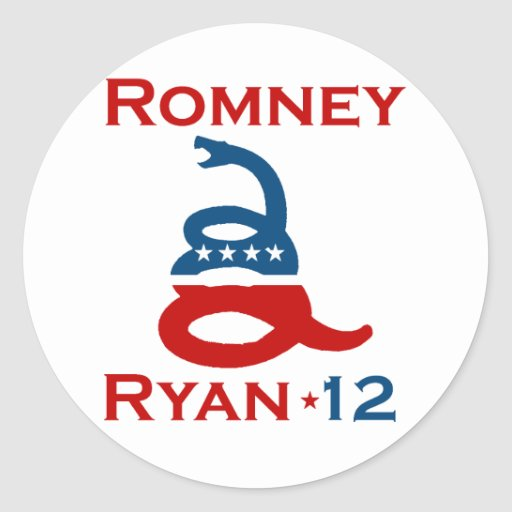 DON'T TREAD ON ROMNEY RYAN.png Round Stickers