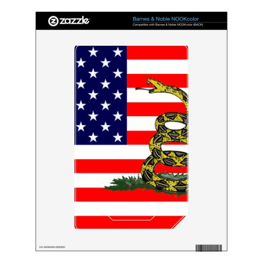 Don't Tread On The USA Decal For NOOK Color