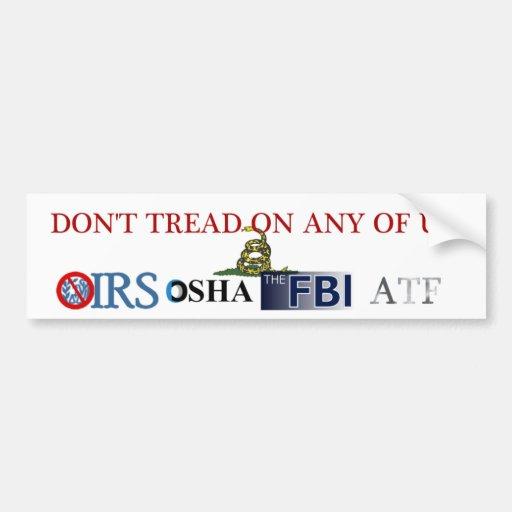 Don't Tread on US Bumper Sticker
