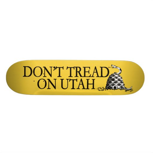 Don't Tread on Utah! This beehive bites! Custom Skate Board
