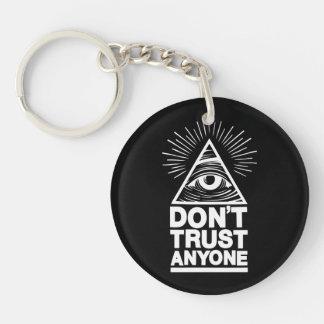 Don't Trust Anyone Keychain