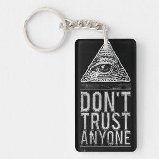 Don't trust anyone keychain