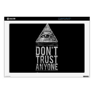 Don't trust anyone laptop decals