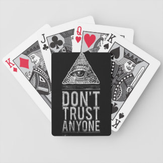Don't trust anyone bicycle playing cards