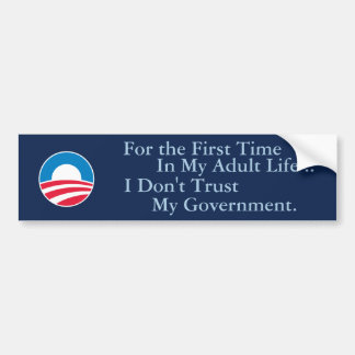 Don't Trust Government Bumper Sticker