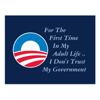 Don't Trust Government Post Card