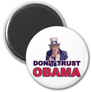Don't Trust Obama 2 Inch Round Magnet