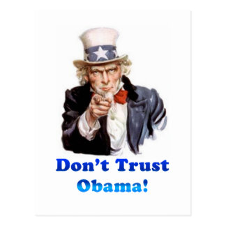 Don't trust Obama Postcard