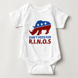 Don't Vote for R.I.N.O.s Baby Bodysuit