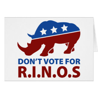 Don't Vote for R.I.N.O.s Card