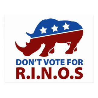 Don't Vote for R.I.N.O.s Postcard