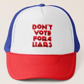 Don't Vote Liars Trucker Hat