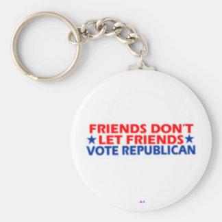 Don't Vote Republican Basic Round Button Keychain