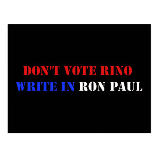 DON'T VOTE RINO POSTCARD
