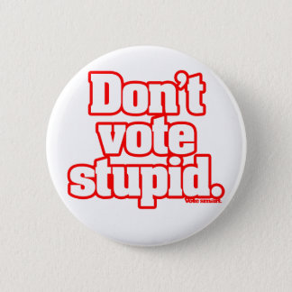Don't Vote Stupid(ly) pin