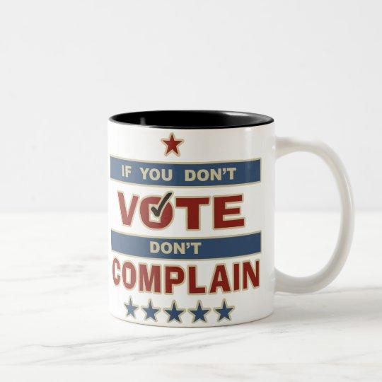 Don't Vote Two-Tone Coffee Mug