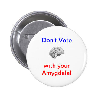 Don't Vote with your Amygdala! Pinback Button