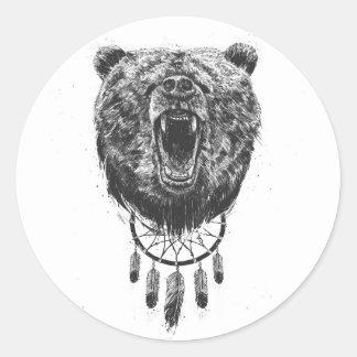 Don't wake the bear classic round sticker