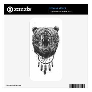 Don't wake the bear iPhone 4 decal