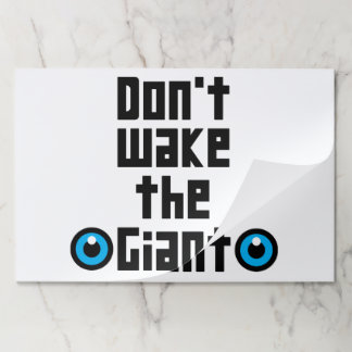 Don't wake the Giant Paper Placemat