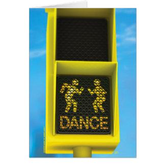 """""""DON'T WALK ... DANCE"""" CARD"""