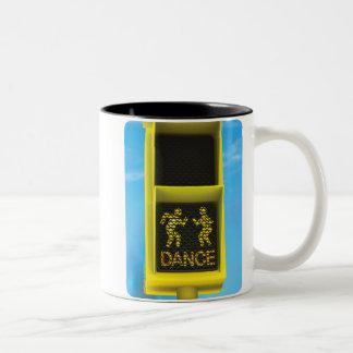 """DON'T WALK ... DANCE"" Two-Tone COFFEE MUG"