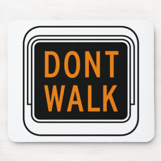 Don't Walk, Traffic Sign, USA Mouse Pads