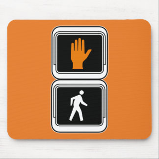 Don't Walk - Walk Picture, Traffic Sign, USA Mousepads