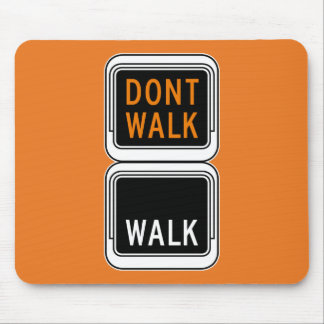 Don't Walk - Walk Picture, Traffic Sign, USA Mouse Pads
