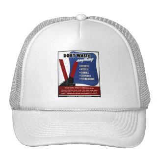 Don't Waste Scrap Metal Trucker Hat