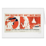 Don't Waste Water Kitchen WPA Card
