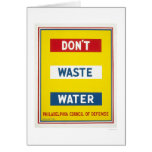Don't Waste Water WPA Card
