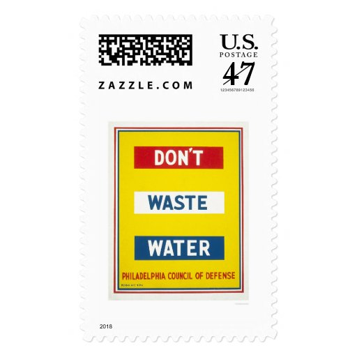 Don't Waste Water WPA Postage